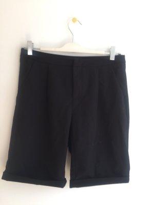 Pantalon court noir polyester