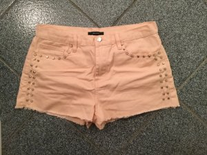 Forever 21 Denim Shorts pink-nude cotton