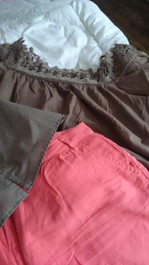 Hot Pants brown-salmon