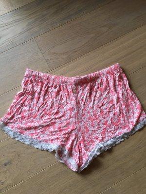 Kurze Hose Pyjama Schlafhose Hotpants süss boho flower power Gr. L