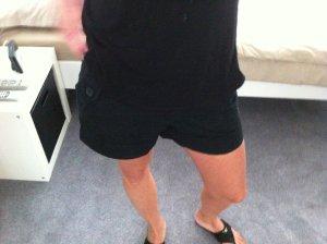 Kurze Hose schwarz Gr. 34/S von H&M
