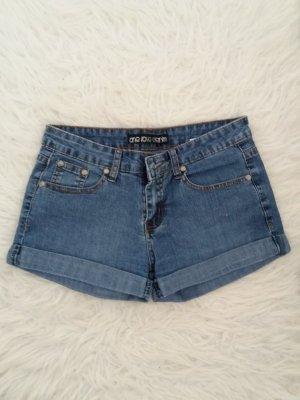 kurze Hose Shorts blau Blogger 34 36 XS S