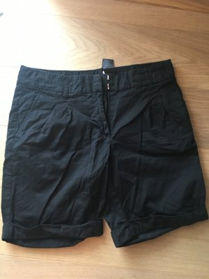Kurze Hose Shorts Chino Stoffhose Bermuda schwarz Basic Gr. 38