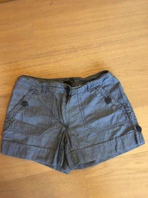 Kurze Hose Shorts Hotpants blau grau Gr. 40