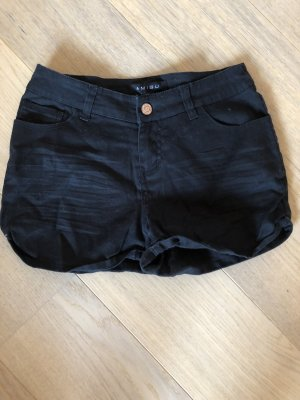 Kurze Hose Shorts Hotpants schwarz Basic
