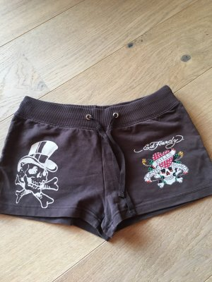 Kurze Hose Shorts Hotpants Stoffhose braun Ed Hardy Gr. M