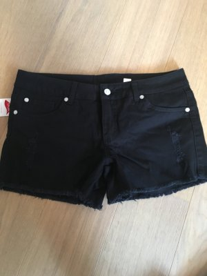 Kurze Hose Shorts Jeansshorts schwarz stretchig Gr. 40 NEU mit Etikett