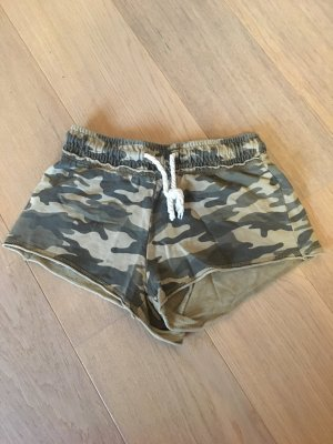 Kurze Hose Stoffhose Shorts Hotpants Army Gr. XS
