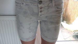 Urban Surface Pantalón corto de tela vaquera blanco-gris claro