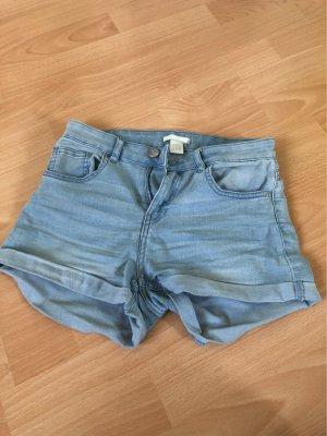 H&M Hoge taille broek zwart-azuur