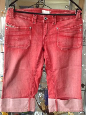 DieselStyleLab Low Rise Jeans bright red-natural white