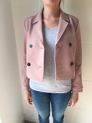 Zara Basic Veste courte vieux rose