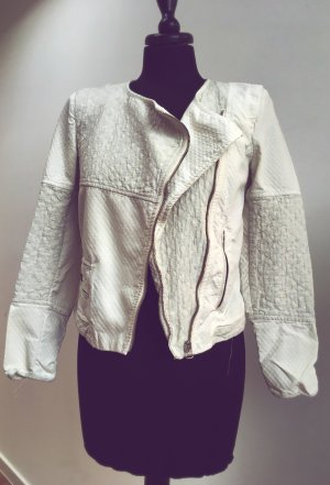 Zara Biker Jacket natural white-light grey