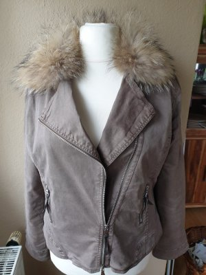 Blonde No. 8 Biker Jacket green grey-taupe cotton