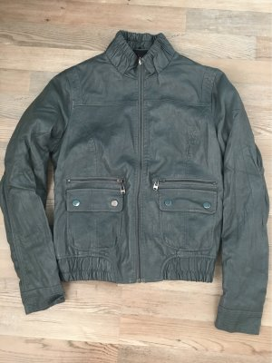 Faux Leather Jacket dark grey-grey
