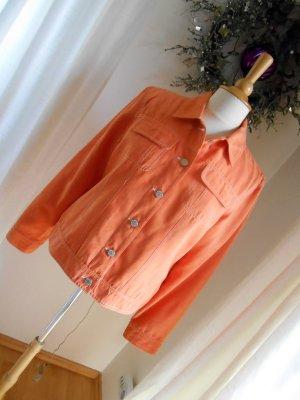Kurze Jacke im Jeansjackenstil von BIAGGINI Orange Wildlederoptik 38