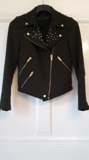 Kurze Jacke in dunkel Olivgrün - Größe S