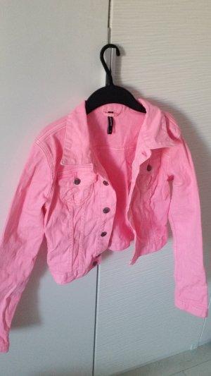 Kurze Jacke in pink