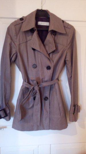 Kurze Jacke Mantel im Trenchcoat-Stil
