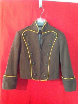 Veste militaire brun-jaune foncé coton