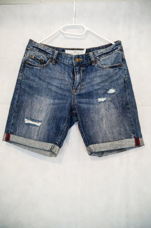 H&M Pantaloncino di jeans grigio ardesia-blu acciaio