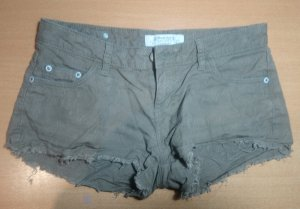 Denim Shorts green grey