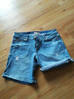 Esprit Pantalón corto de tela vaquera azul celeste