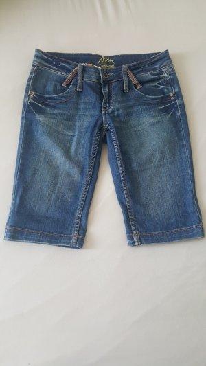 Ann Christine Short en jean gris ardoise-bleu