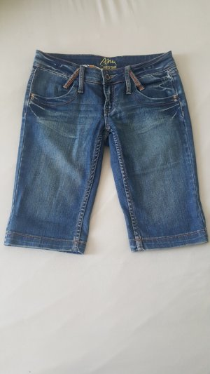 Ann Christine Denim Shorts slate-gray-blue