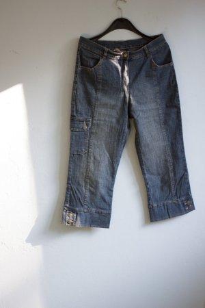 Kurze Jeans Waschung Capri Safari 40 minimalistisch