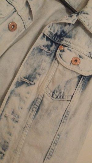 Kurze Jeans Weste im Used Look