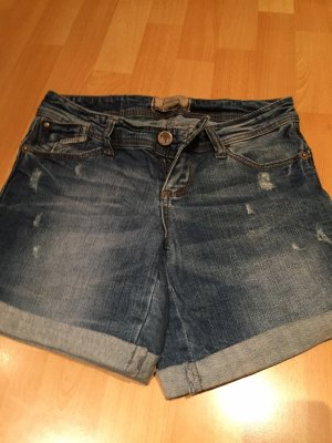 Stradivarius Denim Shorts dark blue