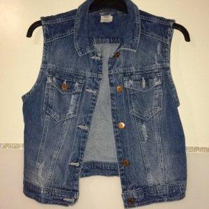 kurze Jeansjacke ärmellos