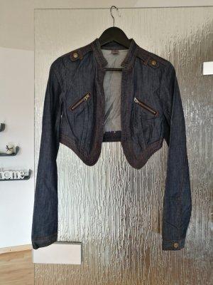 kurze Jeansjacke, GR. S, dunkelblau, Bolero
