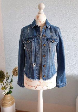 kurze Jeansjacke im used-look, Jeans-Blouson von Esprit