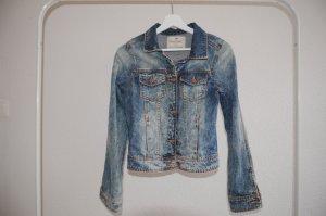 Kurze Jeansjacke im Vintage-Stil - Used Look
