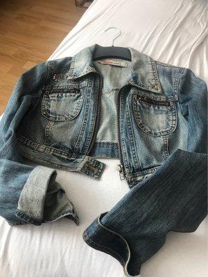 Kurze Jeansjacke von Only in Größe 38