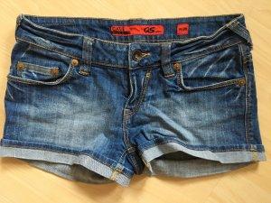 Kurze Jeansshorts dunkelblau