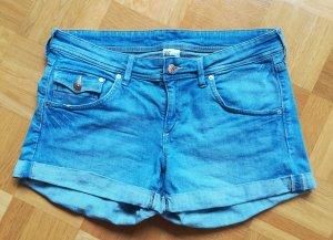 H&M Short bleu clair