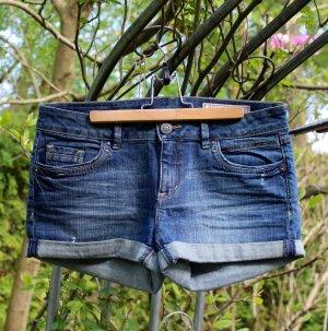 edc Short moulant bleu acier coton