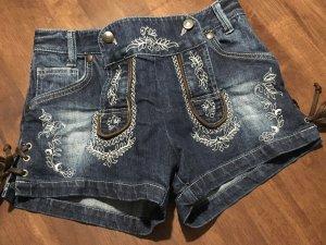 Kurze Jeanstrachten Hose in Größe 32
