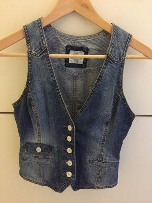 H&M Smanicato jeans blu pallido Cotone