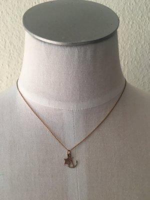 Kurze Kette aus 925 Silber mit kleinen Anjängern