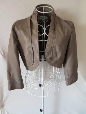 Clockhouse Jacket grey brown imitation leather