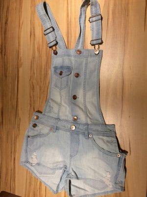 Jeans met bovenstuk azuur