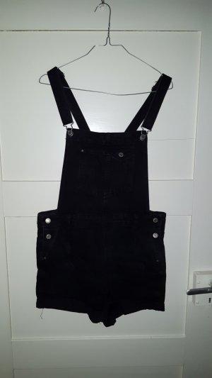 Kurze Latzhose Jeans schwarz Größe M
