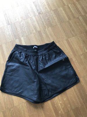 Garcia Jeans Pantalón de cuero negro