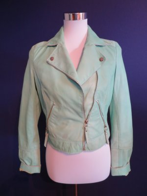 Arma Collection Chaqueta de cuero verde claro Cuero