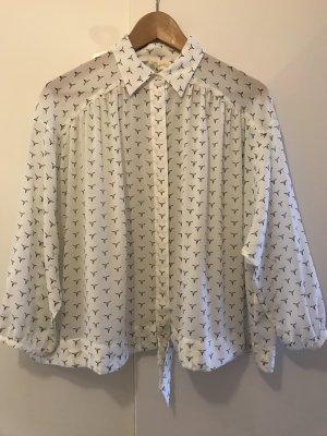 Kurze, leichte Bluse mit aussergewöhnlichem Longhorns-Print von Levi's / NEU