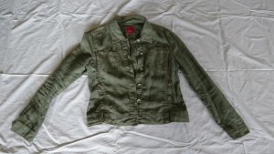 kurze Leinenjacke im Style einer Jeansjacke